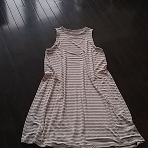 Worn once Grey and white dress
